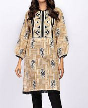 Ivory Khaddar Kurti- Pakistani Winter Dress