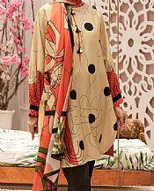 Ivory Cambric Suit- Pakistani Winter Dress