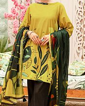 Lime Green Cambric Suit- Pakistani Winter Dress