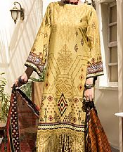 Light Golden Cambric Suit (2 Pcs)- Pakistani Winter Clothing