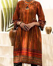 Safety Orange Cambric Suit (2 Pcs)- Pakistani Winter Dress