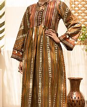 Golden Brown Cambric Suit (2 Pcs)- Pakistani Winter Dress
