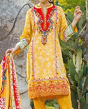 Golden Yellow Cambric Suit- Pakistani Winter Clothing