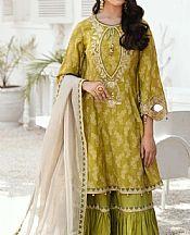 Olive Green Jacquard Suit- Pakistani Lawn Dress