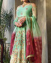 Mint Green Chiffon Suit- Pakistani Designer Chiffon Suit