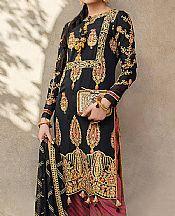 Black Silk Suit- Pakistani Chiffon Dress