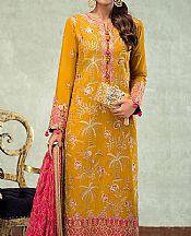 Mustard Silk Suit- Pakistani Chiffon Dress