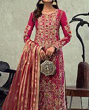 Crimson Silk Suit- Pakistani Chiffon Dress