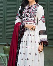 Off-white Cotton Suit- Pakistani Designer Chiffon Suit