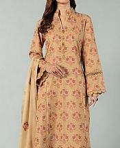 Fawn Karandi Suit- Pakistani Winter Dress