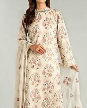 Ivory Karandi Suit- Pakistani Winter Dress