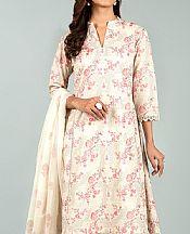 Off White Karandi Suit- Pakistani Winter Clothing