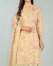 Light Golden Karandi Suit- Pakistani Winter Clothing