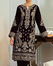 Chocolate Velvet Suit- Pakistani Winter Clothing