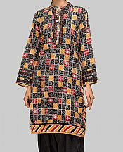 Black/Mustard Khaddar Suit (2 Pcs)- Pakistani Winter Dress