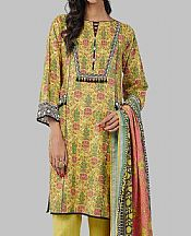Lime Yellow Khaddar Suit- Pakistani Winter Clothing