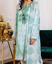 Cyan Cambric Suit- Pakistani Designer Lawn Dress