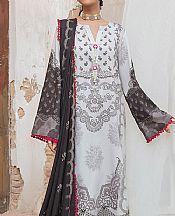 Light Grey Cotton Satin Suit- Pakistani Winter Clothing