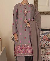 Reddish Grey Khaddar Suit- Pakistani Winter Clothing