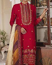 Red Linen Suit- Pakistani Winter Clothing