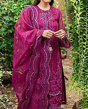 Egg Plant Organza Suit- Pakistani Chiffon Dress