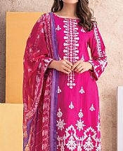 Socking Pink Jacquard Suit- Pakistani Winter Dress
