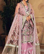 Lilac Poly Net Suit- Pakistani Designer Chiffon Suit