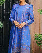 Royal Blue Khaddar Suit- Pakistani Winter Dress