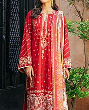 Scarlet Khaddar Suit- Pakistani Winter Clothing