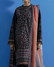 Black Khaddar Suit (2 Pcs)- Pakistani Winter Dress