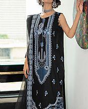 Black/Blue Lawn Suit- Pakistani Designer Lawn Dress