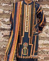 Mustard/Blue Khaddar Suit- Pakistani Winter Dress