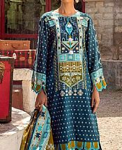 Denim Blue Khaddar Suit- Pakistani Winter Clothing