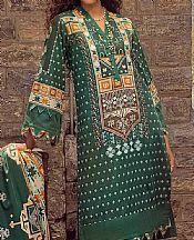 Forest Green Khaddar Suit- Pakistani Winter Clothing