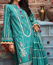 Teal Khaddar Suit- Pakistani Winter Dress