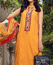Mustard Yarn Dyed Dobby Suit- Pakistani Lawn Dress