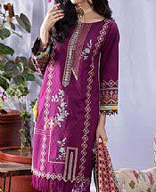 Egg Plant Cambric Suit- Pakistani Lawn Dress