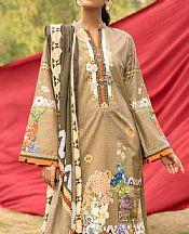 Olive Cambric Suit- Pakistani Lawn Dress