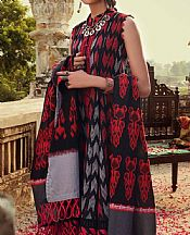 Red/Black Jacquard Suit- Pakistani Lawn Dress