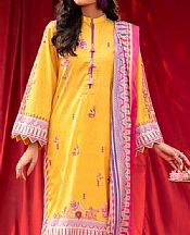 Gold Yellow Cambric Suit (2 Pcs)- Pakistani Lawn Dress