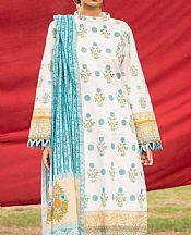 Ash White Cambric Suit (2 Pcs)- Pakistani Designer Lawn Dress