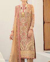Tan Chiffon Suit- Pakistani Designer Chiffon Suit