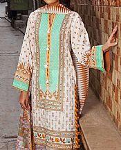 Mint Green/White Lawn Suit- Pakistani Designer Lawn Dress