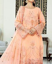Peach Swiss Lawn Suit- Pakistani Designer Lawn Dress
