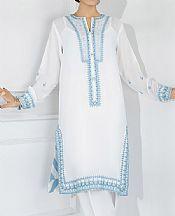 White Grip Suit (2 Pcs)- Pakistani Chiffon Dress