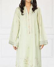 Light Green Lawn Suit (2 Pcs)- Pakistani Designer Lawn Dress