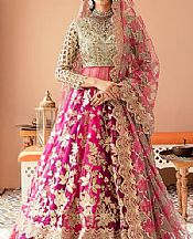 Magenta Net Suit- Pakistani Designer Chiffon Suit
