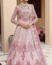 Baby Pink Net Suit- Pakistani Designer Chiffon Suit