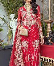 Scarlet Chiffon Suit- Pakistani Chiffon Dress