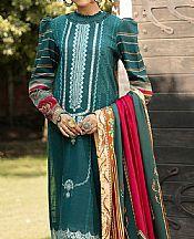 Teal Slub Suit- Pakistani Winter Clothing